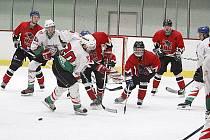 V dalším kole krajské hokejové ligy mužů porazilo HC Hlinsko v derby HC Chrudim 6:5  v prodloužení.
