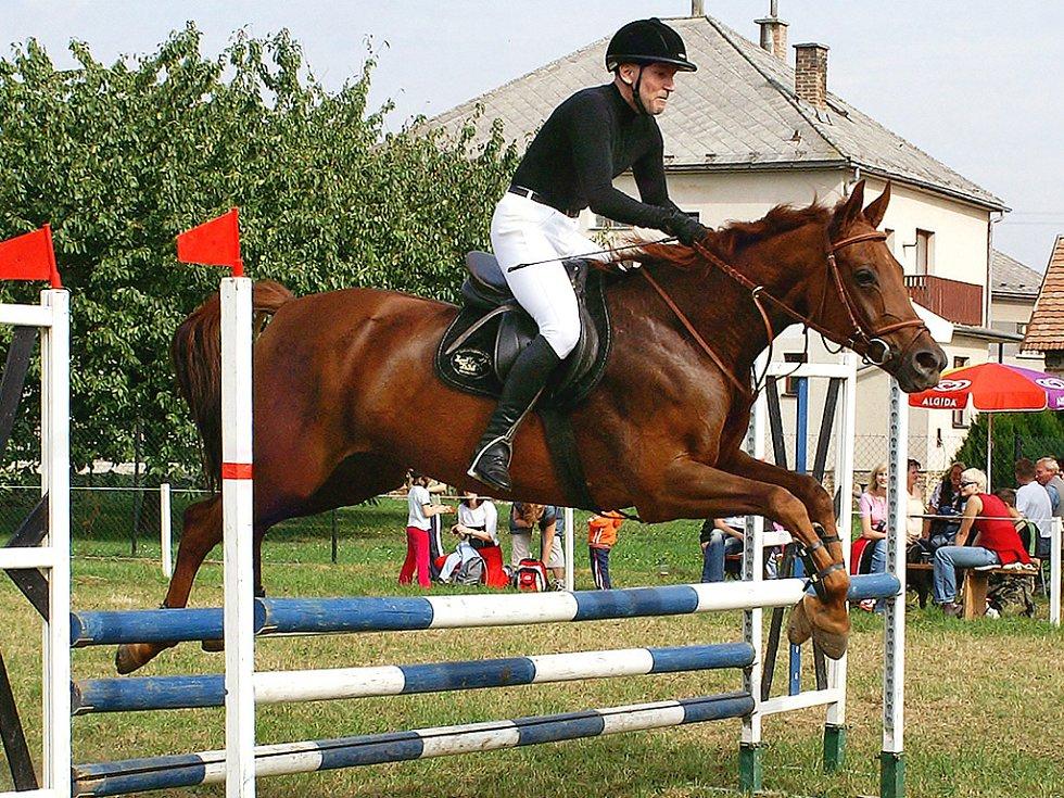 Aleš Novák s koněm Goyen.