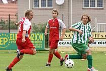 Z fotbalového utkání okresního přeboru SK Chrudim B - Rváčov 3:0.