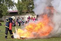 Dětský den s hasiči v Chrasti.