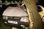 Řidič při něhodě mezi Tuněchody  Mněticemi narazil do stromu. Hasiči ho museli z auta vyprostit.