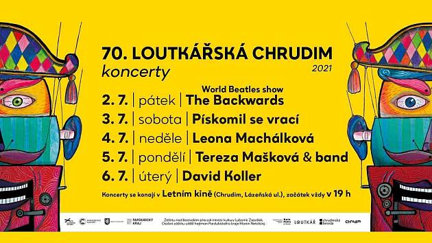 Program koncertů, ještě s původním pořádáním v Letním kině