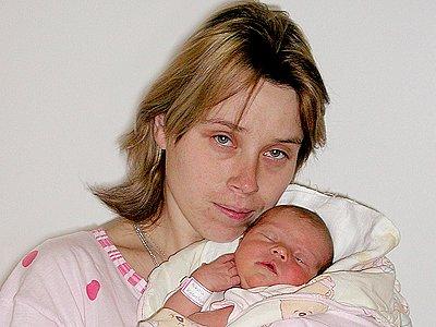 Nikola Kyselová ze Skutče vážila 3,05 kilogramu a měřila 49 centimetrů.