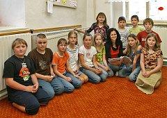 Školáci ze zaječické základní školy.