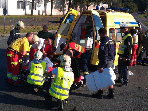 K vážné dopravní nehodě motorkáře došlo u Heřmanova Městce.