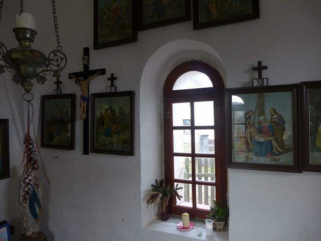 Kaplička ve Vranově - interiér