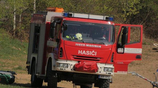 Záchranná akce u Sečské přehrady.
