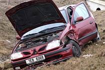 Nehoda dvou řidiček u Medlešic.