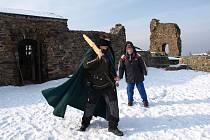 V sobotu proběhlo na hradě několik her pod dozorem kastelánky.