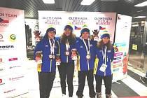 Vyslanci Karate klubu Lichnice na mládežnické olympiádě: zleva: Galen Daren Paterson, Barbora Kratochvílová,Vojtěch Vašák a Adéla Blažková.