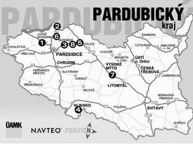 Uzavírky vPardubickém kraji