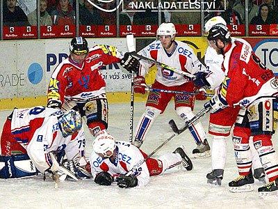 HC Chrudim se proti Vrchlabí pokoušel o historický postup do I. ligy.