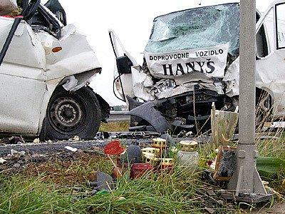 Tragická dopravní nehoda u Medlešic.