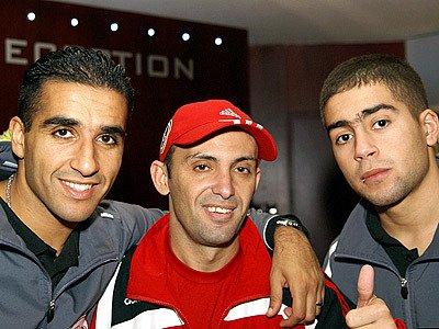 Brazilec Cacau (uprostřed) při UEFA Futsal Cupu v Chrudimi.