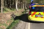 Nehoda cyklistů u Hlinska
