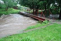 I na Třemošnicku občany potrápily záplavy.