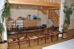 Prostory azylového domu pro těhotné maminky v tísni v Hamrech u Hlinska.