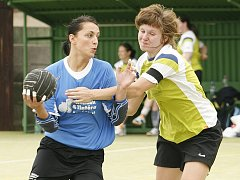 Z utkání ženské prvoligové házené Hlinsko - Náchod 30:16.
