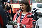 Na místo tragické nehody přijela i tisková mluvčí chrudimské policie Věra Hamáčková.