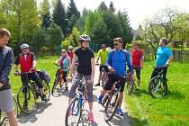 Ronovští v čele se starostou si udělali výlet na kole