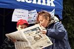 Návštěvníci měli možnost seznámit se i s obsahem Chrudimského deníku.