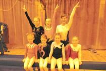 Chrudimské gymnastky na Memoriálu Zuzany Hartlové v roce 2012.