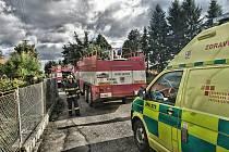 Požár v Lažanech