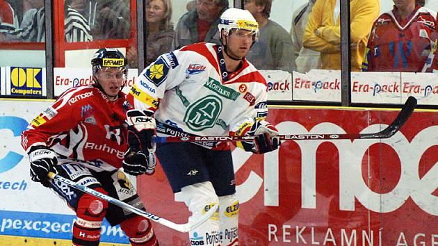 Z přípravného hokejového utkání Chrudim - Pardubice.