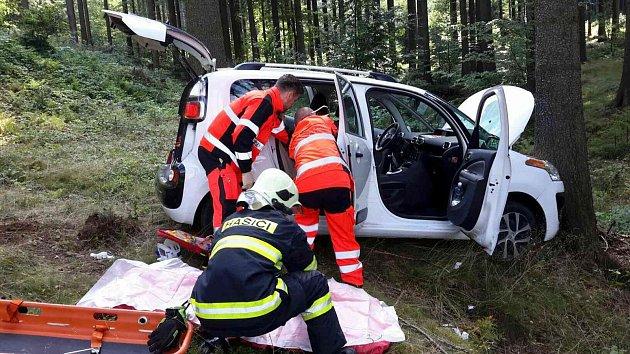 Nehoda u Svratouchu.