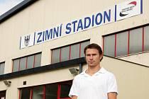 Hokejista Petr Průcha se na skok vrátil do rodné Chrudimi.