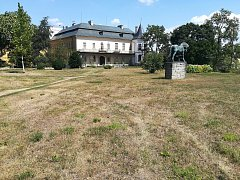 Současný stav zámeckého parku ve Slatiňanech