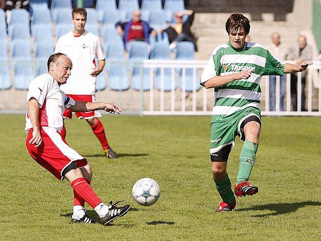 Z utkání fotbalové I. B třídy Hlinsko B - FK Pardubice C 1:4.