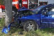 Nehoda na silnici mezi Chrudimí a Vlčnovem