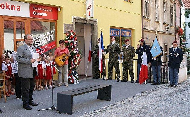 Pamtáku hrdiny II. světové války generála Uchytila si v Chrudimi připomínají každým rokem