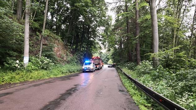 Sobotní nehoda u Třemošnice