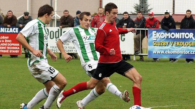 Z fotbalového zápasu MFK Chrudim proti FC Chomutov.