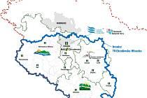 Mapa nové turistické oblasti