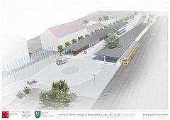 Vizualizace dopravního terminálu v Heřmanově Městci