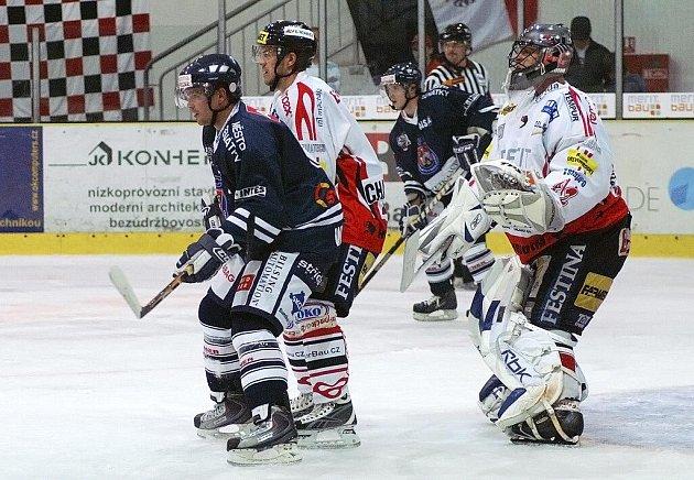 Z hokejového utkání HC Chrudim - Benátky nad Jizerou.