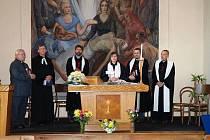 V kostele proběhla oslava 80. let od založení kostela Církve československé-husitské.