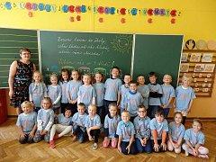 Žáci 1. A. Základní školy Smetanova v Hlinsku, které vede paní učitelka Dagmar Vodičková.