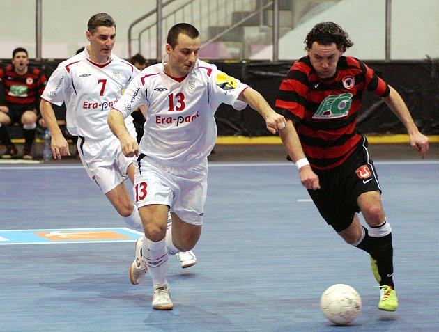 Z utkání I. futsalové ligy Era-Pack Chrudim - Benago Zruč 5:1.