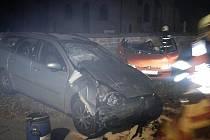 Dopravní nehoda u chrudimské křižovatky Tři Bubny.