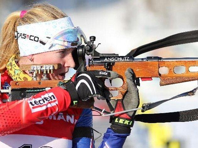 Juniorská biatlonistka Anna Tkadlecová.