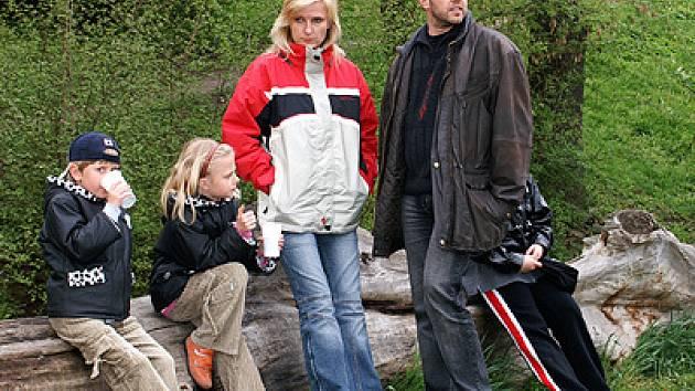 Milan Kušta s rodinou.