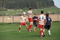 Z fotbalového utkání IV. třídy Luže B – Krouna B 1:2