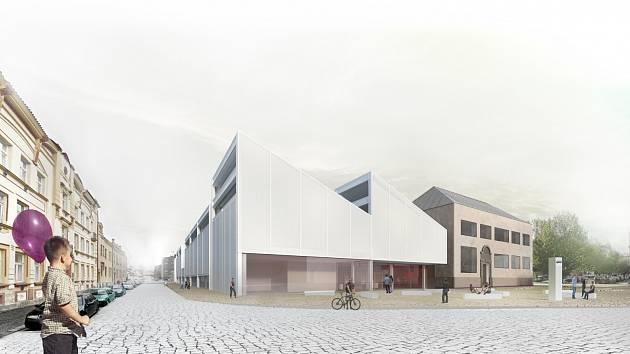 Návrh na rekonstrukci sportovní haly na chrudimském Tyršové náměstí.