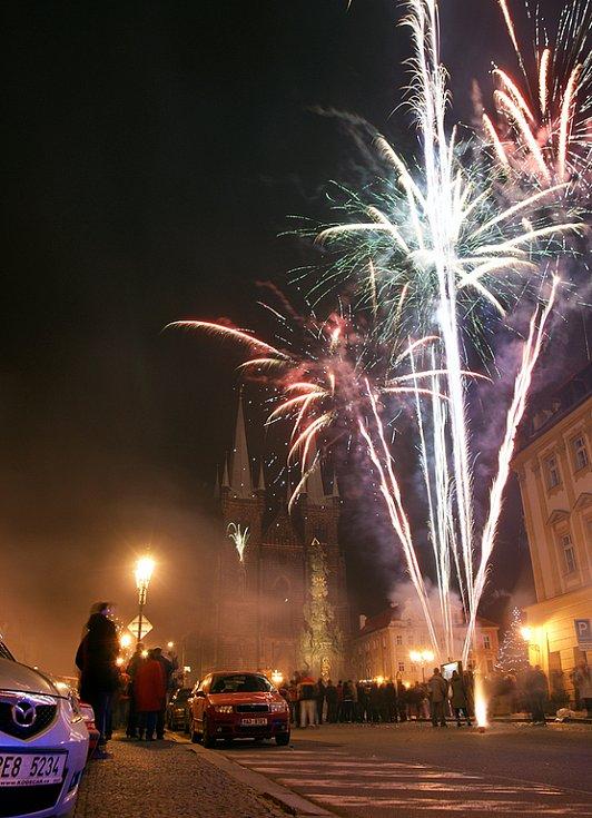 Oslavy Silvestra v Chrudimi.
