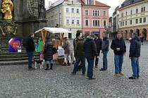 Vzpomínková akce na Resselově náměstí