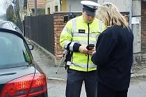 Policisté měřili rychlost projíždějících vozidel v Orli.
